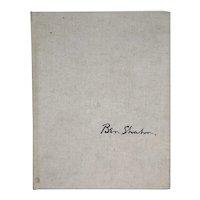 Vintage American Art Book: Ben Shahn Paintings