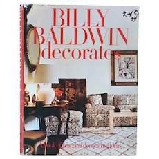 Vintage American Interior Design First Edition Book: Billy Baldwin Decorates