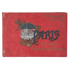 French and English Book: Paris et ses Environs, St. Cloud, Versaille & Trianons by Neurdein Freres