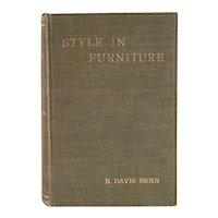 Antique Book: Style in Furniture by R. Davis Benn