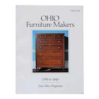 Vintage Book: Ohio Furniture Makers, 1790 to 1845, Volume One by Jane Sikes Hageman
