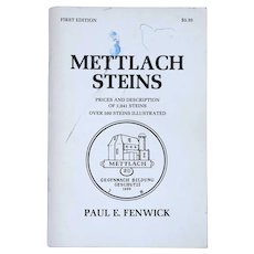 Vintage First Edition Book: Mettlach Steins by Paul E. Fenwick
