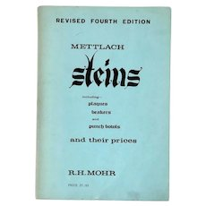 Vintage Book: Mettlach Steins and Their Prices by R.H. Mohr