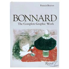 Vintage Art Book: Bonnard, The Complete Graphic Work by Francis Bouver