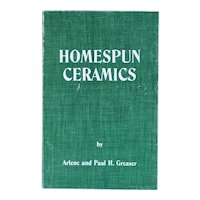 Vintage Book: Homespun Ceramics, A Study of Spatterware by Arlene and Paul H. Greaser