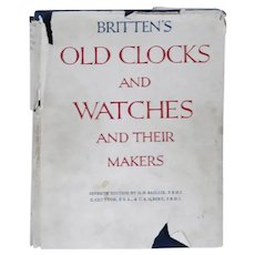 Book: Britten's Old Clocks and Watches and their Makers by G.H. Baillie et al.