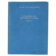 Vintage Book: Victoria and Albert Museum, Catalogue of Carvings in Ivory, Part II by Margaret H. Longhurst