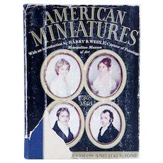 Vintage Book: American Miniatures, 1730-1850 by Harry B. Wehle