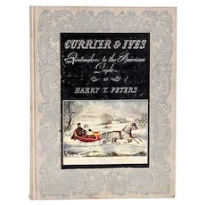 Vintage Book: Currier & Ives, Printmakers to the American People by Harry T. Peters