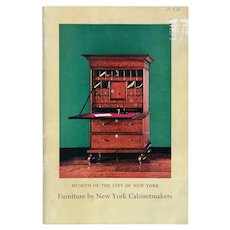 Catalog Book: Furniture By New York Cabinetmakers 1650 to 1860 by Isabelle V. Miller