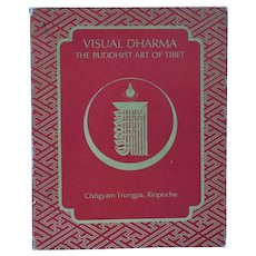 First Edition Book: Visual Dharma, The Buddhist Art of Tibet  by Rinpoche Chogyam Trungpa