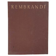 Vintage Art Book: Paintings by Rembrandt by Professor W. Martin