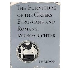 Vintage Book: The Furniture of the Greeks Etruscans and Romans by G. M.A. Richter