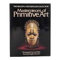 First Edition Art Book: Masterpieces of Primitive Art by Douglas Newton
