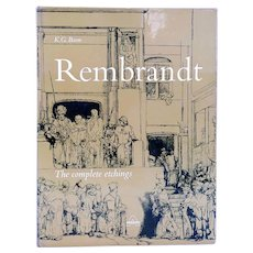 Art Book: Rembrandt, The Complete Etchings by K.G. Boon