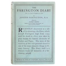 Vintage Book: The Farington Diary Volume 1 by Joseph Farington, R.A.