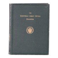 Book: The Sheffield Assay Office Register by Bernard William Watson