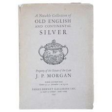 Vintage Book: A Notable Collection of Old English and Continental Silver...J.P. Morgan