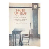 Vintage Book: Shaker Furniture by Edward Deming Andrews & Faith Andrews