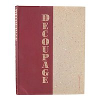 First Edition Book: Decoupage by Dorothy Harrower