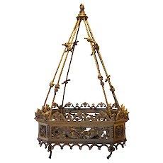 Fine French Gilt Bronze Hanging Eight-Light Pendant Light