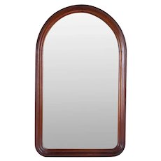 American Victorian Walnut Arched Top Wall Mirror