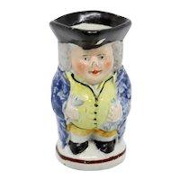 Small English Georgian Staffordshire Pottery Toby Jug