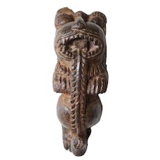 Small Indian Carved Teak Lion