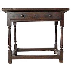 English Georgian Oak Side Table