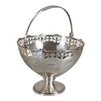 Small English Adie Brothers Birmingham Sterling Silver Bonbon Basket