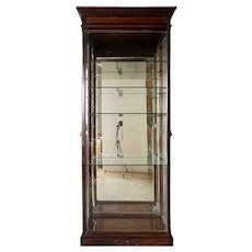 Tall Anglo Indian Glass Display Cabinet
