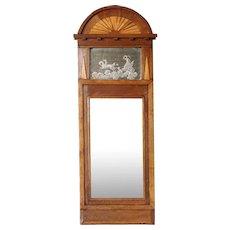 Small Swedish Empire Parquetry Mirror