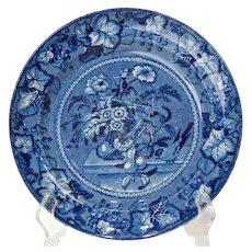 Rare English Georgian Clews Transferware Pottery Coronation Plate