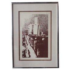 Vintage American E. DUNCAN Lithograph on Paper, Kuner, 5/20