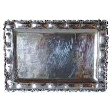 Vintage Mexican Sterling Silver Rectangular Tray