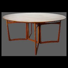 Danish Hvidt & Molgaard for John Stuart Modern Teak Folding 20/59 Dining Table