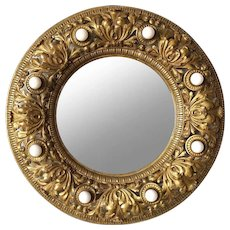 American Brass Ceiling Medallion Mirror