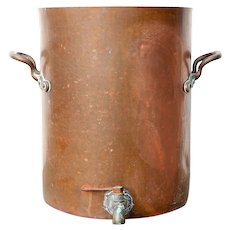 Large Copper Pot with Handles and Spout