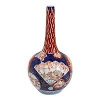 Large Japanese Edo Porcelain Imari Bottle Vase