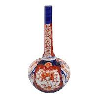 Medium Japanese Meiji Porcelain Imari Bottle Vase