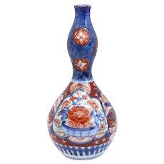 Small Japanese Porcelain Imari Double Gourd Bottle Vase