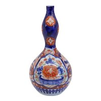 Small Japanese Edo Porcelain Imari Double Gourd Bottle Vase