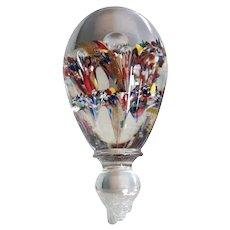 Large Italian Murano Blown Art Glass Decanter Stopper