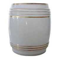 Bohemian Gilt and Opaline Glass Novelty Punch Barrel
