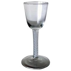English George III Double-Series Cotton Twist Stem Wine Glass