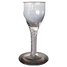 Early Double-Series Cotton Twist Stem Wine Glass
