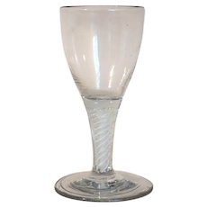 Early Double-Series Cotton Opaque Twist Stem Glass