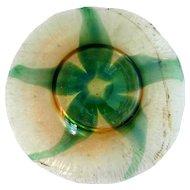 American Tiffany Studios Art Nouveau Leaf Decorated  Iridescent Art Glass Plate