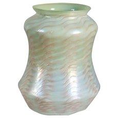 Rare American Tiffany Studios Art Nouveau Favrile Glass Peppermint Lamp Shade
