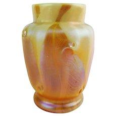 Rare American Tiffany Studios Favrile Glass Cabinet Vase
